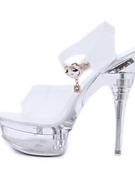 cheap -Women's Dance Shoes Pole Dancing Shoes Heel Buckle Slim High Heel White White Buckle