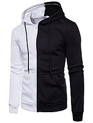 cheap -EU Size Men's Color Block Hoodies Jacket Zipper 2020 New Spring Male Pocket Patchwork Sweatshirs Man Hip Hop Zip Up Streetwear