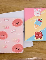 cheap -Case For Apple iPad  Mini 3 2 1 iPad Mini 4 iPad Mini 5 with Stand Flip Full Body Cases PU Leather TPU Protective Stand Cover Pattern bear cute rabbit lovely word phrase cat puppy dog