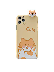 cheap -Case For iphone 7 8 7p 8p X XS MAX XR 11 11 PRO 11 PRO MAX  SE Pattern Back Cover Word  Phrase TPU ANIMAL dog