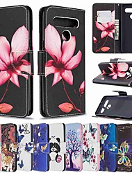 cheap -Case For LG Stylo 5 LG K61 LG K51 Wallet Card Holder with Stand Full Body Cases Golden Butterfly PU Leather TPU for LG Stylo 4 LG G7