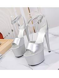 cheap -Women's Dance Shoes Pole Dancing Shoes Heel Buckle Slim High Heel White Black Yellow Buckle
