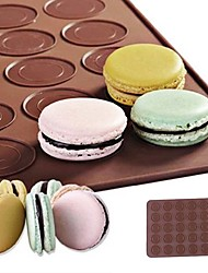 cheap -Silicone 30-Cavity Non-stick Macaroon Roll Mat 1Pc