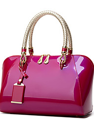 cheap -Women's Bags PU Leather Top Handle Bag Sashes / Ribbons Zipper for Daily / Date Wine / Black / Blue / Red
