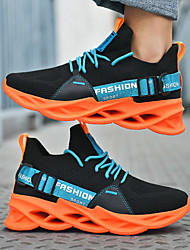 cheap -Men's Trainers Athletic Shoes Sporty Casual Daily Outdoor Running Shoes Fitness & Cross Training Shoes Tissage Volant Breathable Wear Proof Orange / Black White Yellow Summer Fall