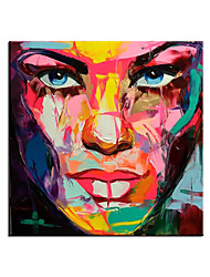 cheap -100% Hand painted Top Artist Hand-painted High Quality Colorful Portrait Knife Painting on Canvas Abstract Figures Oil Painting Rolled Without Frame