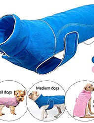 cheap -reflective fleece dog coat jackets vest for small medium large dogs in cold weather,blue