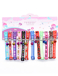 cheap -Dog Cat Collar Portable Cute and Cuddly With Bell Anti Lost Geometric Geometry Cotton Dalmatian Japanese Spitz Corgi Bulldog Shiba Inu Cocker Spaniel Rainbow 1 set