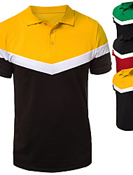 cheap -Men's Holiday T-shirt Short Sleeve Outdoor clothing Tops Red Yellow Green