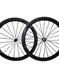 cheap -NEASTY 700CC Wheelsets Cycling 23 mm Road Bike Fiber Carbon / Full Carbon Clincher 20/24 Spokes 50 mm
