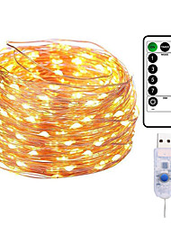 cheap -20M 200LED Copper Wire String Lights Outdoor String Lights USB Plug-in Fairy Lights With Remote 8 Modes Lights Waterproof Remote Control Timer Christmas Wedding Birthday Family Party Room Valentine's