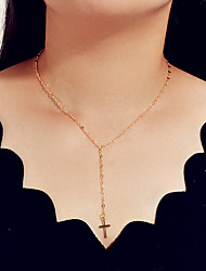 cheap -Women's Pendant Necklace Cross Fashion Alloy Gold 47 cm Necklace Jewelry 1pc For Festival