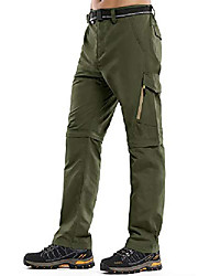 cheap -hiking pants mens,zip off convertible outdoor upf 50+ quick dry lightweight fishing cargo pants with belt #6088-army green,40
