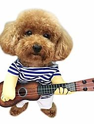 رخيصةأون -الحيوانات الأليفة الغيتار زي الكلب بحار زي هالوين عيد الميلاد احتفالي حزب مضحك القط الملابس
