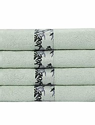 cheap -bamboo cotton bath towels 4pcs 27x55 inch extra absorbent and eco-friendly luxury hotel spa towel green
