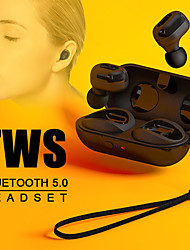 cheap -Mini Bluetooth 5.0 TWS HiFi Stereo Wireless In-Ear Earphones Sports Earbuds with Charging Box Charging Cable