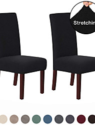 cheap -2 Pcs Chair Cover Dining Chair Slipcover Super Fit Stretch Removable Washable Short Dining Chair Protector Cover Seat Slipcover for Hotel/Dining Room/Ceremony/Banquet Wedding Party