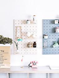 cheap -4/6Pcs Wall-Mounted Kitchen Storage Tool Hole Plate Hook Parts Storage Box