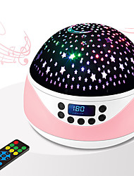 cheap -Music Projection Lamp Baby Night Light with Timer Rotating Stars Night Light Projector for Kids Sleeps Helper Gift
