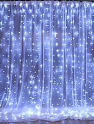 cheap -3Mx3M 3Mx2M USB LED Curtain String Lights Remote Control Fairy Lights New Year Christmas Valentine's Day Outdoor Wedding Home Decoration