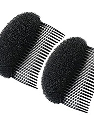 cheap -healtheveryday2pcs charming bump it up volume inserts do beehive hair styler insert tool hair comb black/brown colors for choose hot (black)