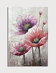 cheap -Oil Painting Paint Handmade Abstract Flowers Canvas Art Modern Art with Stretcher Ready to Hang With Stretched Frame
