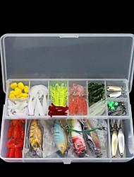 cheap -100 pcs Lure kits Vibration / VIB Bass Trout Pike Bait Casting Other Lure Fishing Plastic