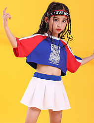 cheap -Hip-Hop Skirts Pattern / Print Gore Girls' Training Performance Half Sleeve High Cotton Polyester