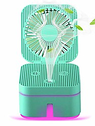 cheap -portable air cooler mini humidifier with 2 mist levels for humidification & purification personal desktop mini cooling fan with 3 speeds 7color light usb cable for office, indoor, outdoor (green)