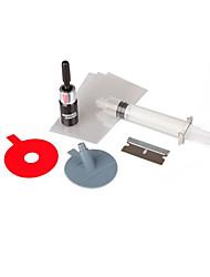 cheap -DIY Car Windshield Repair Kit Tools Auto Glass Windscreen Repair Set Give Door Handle Protective Decorative Stickers