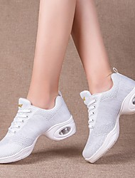 cheap -Women's Dance Shoes Jazz Shoes / Modern Shoes / Practice Trainning Dance Shoes Sneaker Thick Heel White / Black / Performance