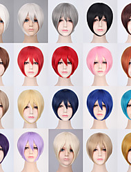 cheap -Synthetic Wig kinky Straight Bob Asymmetrical Wig Short A15 A16 A17 A18 A19 Synthetic Hair 11 inch Women's Natural Cool Middle Part Bob Red