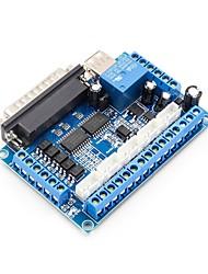 cheap -MACH3 5 eixo Bordo de Fuga CNC Stepper Motor Driver Modulo Controlador de Controle De Porta Paralela com Acoplador Optico Cabo USB