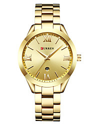 cheap -CURREN Women's Quartz Watches Quartz Formal Style Modern Style Casual Water Resistant / Waterproof Analog Rose Gold White+Gold White+Coffee / One Year / Stainless Steel / Japanese / Shock Resistant