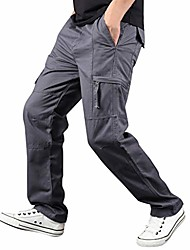cheap -mens pants,men's summer outdoor multi-pocket cargo pants straight casual sports pants trousers dark gray