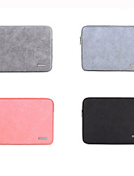 cheap -11.6 Inch Laptop / 13.3 Inch Laptop / 14 Inch Laptop Sleeve PU Leather / Polyurethane Leather Solid Color / Novelty for Men for Women for Business Office Waterpoof Shock Proof