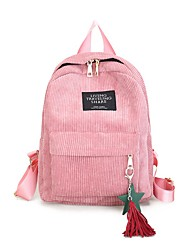 cheap -Large Capacity School Bag Women's Polyester Canvas Zipper Solid Color Daily Black / Blushing Pink / Green / Gray / Fall & Winter
