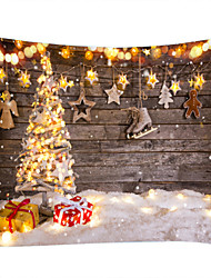 cheap -Christmas Weihnachten Santa Claus Wall Tapestry Art Decor Blanket Curtain Picnic Tablecloth Hanging Home Bedroom Living Room Dorm Decoration Snow Christmas Tree Gift Star Light Polyester