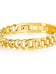 cheap -Chain Bracelet Classic Totem Series Stylish Titanium Steel Bracelet Jewelry Black / Gold / Silver For Gift Date Festival