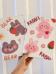 cheap -Case For Apple iPad  Mini 3 2 1 iPad Mini 4 iPad Mini 5 with Stand Flip Full Body Cases PU Leather TPU Protective Stand Cover Pattern bear cute stars lovely strawberry Word Phrase flower rabbit