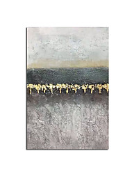 cheap -Handmade Abstract Golden Simple Pretty 100% Hand painted Canvas Oil Painting Wall Art Picture For Living Room Aisle Modern Home Decor Rolled Without Frame