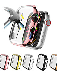 cheap -Cases For Apple Watch Series 5/4/3/2/1 Tempered Glass / PU(Polyurethane) Compatibility Apple