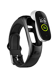 cheap -V08pro Smart Phone Bracelet 2020 New Bluetooth 5.0 Exercise Heart Rate Sleep Music Headset Two In One