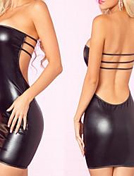 halpa -Exotic Dancewear Leninki Yksivärinen Naisten Party Suoritus Hihaton Luonnollinen Elastaani