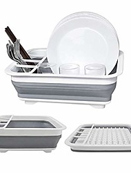 cheap -roll-up dish rack dish drainer over the sink dish drying rack foldable sus 304 stainless steel dish drying rack