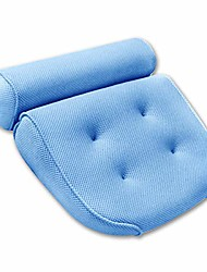 cheap -bath pillow for men & women, luxury bathtub cushion for neck head and shoulder support, air mesh for quick dry, 4 large non-slip suction cups for hot tub, jacuzzi and spas & #40;blue& #41;