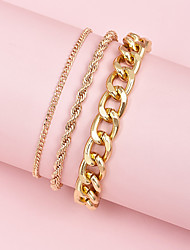 cheap -Leg Chain Classic Punk Trendy Women's Body Jewelry For Gift Holiday Link / Chain Alloy Lucky Gold 3pcs