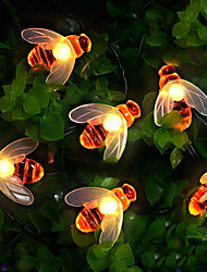 cheap -8 Functions Solar Bee Lights Lovely Fairy Bee Lights 2M 20 LED Outdoor Lights Waterproof Garden Terrace Flowers And Trees Party Celebration
