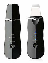 cheap -juszczak ultrasonic skin facial scrubber face spatula, deep cleaning skin dirt blackhead remover reduce wrinkles and spot facial lifting peeling beauty device tool (black)