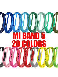 cheap -20 Colors Bracelet for Xiaomi Mi Band  5 Sport Strap watch Silicone wrist strap For xiaomi mi band 5 accessories Miband 5 Bracele